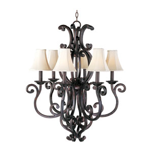 Richmond Six-Light Chandelier with Shades