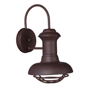 Wharf Empire Bronze 8-Inch Wide One-Light Outdoor Wall Mount
