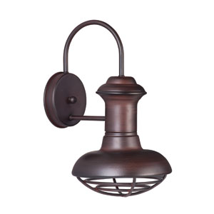 Wharf Oriental Bronze 8-Inch Wide One-Light Outdoor Wall Mount