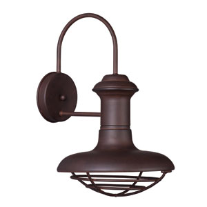 Wharf Empire Bronze 10-Inch Wide One-Light Outdoor Wall Mount