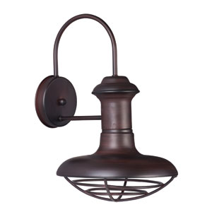 Wharf Oriental Bronze 10-Inch Wide One-Light Outdoor Wall Mount