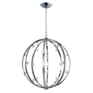 Equinox Polished Nickel LED 28-Light Pendant