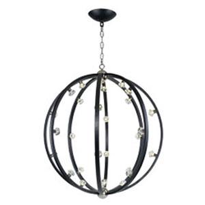 Equinox Textured Black LED 28-Light Pendant