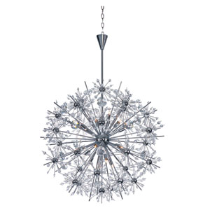 Starfire Polished Chrome 18-Light Single-Tier Chandelier