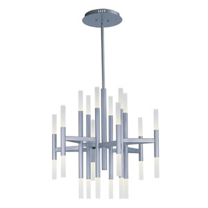 Pinnacle LED Metallic Silver Twenty-Four-Light Thirty-Three-Inch Mini Chandelier