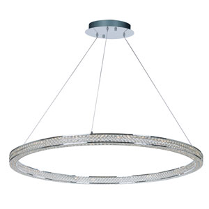 Eternity LED Polished Chrome 50-Inch Four-Light LED Pendant