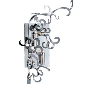 Tempest Polished Nickel Two-Light Wall Sconce