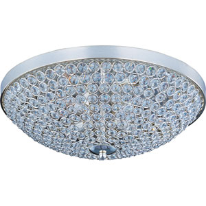 Glimmer Plated Silver Four-Light Flush Mount