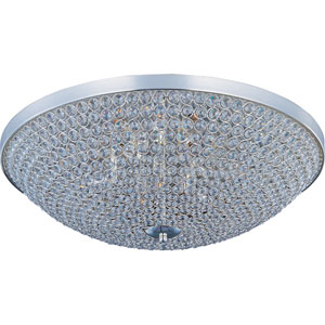 Glimmer Plated Silver Six-Light Flush Mount