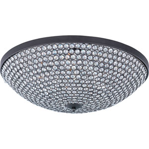 Glimmer Bronze Nine-Light Flush Mount