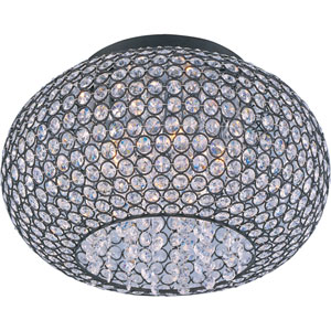 Glimmer Bronze Five-Light Flush Mount