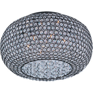 Glimmer Bronze Six-Light Flush Mount