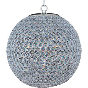 Glimmer Plated Silver Five-Light Chandelier