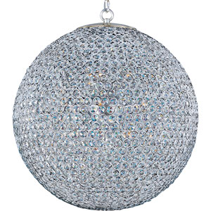 Glimmer Plated Silver Twelve-Light Chandelier