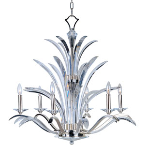 Paradise Plated Silver Six-Light Chandelier