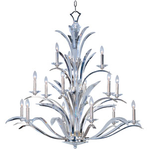 Paradise Plated Silver Fifteen-Light Chandelier