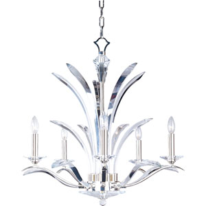 Paradise Plated Silver Five-Light Chandelier
