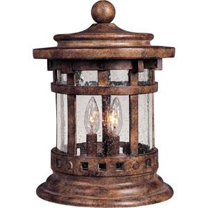 Santa Barbara Sienna Three-Light Outdoor Deck Lantern with Seedy Glass