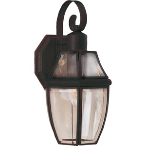 South Park Burnished One-Light Outdoor Wall Mount with Clear Glass