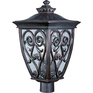 Newbury VX Oriental Bronze Three-Light Outdoor Post Lantern