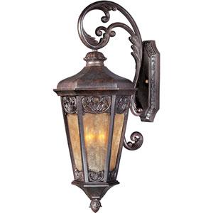 Lexington VX Colonial Umber Three-Light Outdoor Wall Lantern