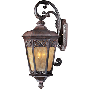 Lexington VX Colonial Umber Three-Light Outdoor Wall Lantern
