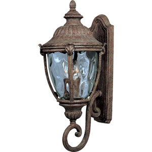 Morrow Bay Earth Tone Three-Light Outdoor Wall Mount with Water Glass