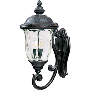 Carriage House VX Oriental Bronze Three-Light Outdoor Wall Lantern