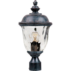 Carriage House Oriental Bronze One-Light Outdoor Post Light with Water Glass