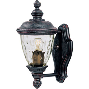 Carriage House Oriental Bronze One-Light Outdoor Wall Mount with Water Glass