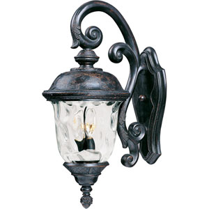 Carriage House VX Oriental Bronze Three-Light Outdoor Wall Mount