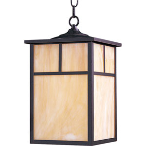 Craftsman Burnished Amber Outdoor Hanging Pendant