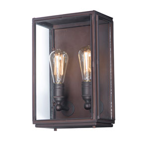 Pasadena Oil Rubbed Bronze Two-Light Outdoor Wall Mount