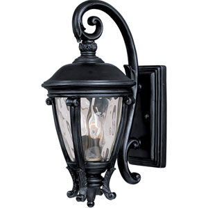 Camden Black Two-Light Outdoor Wall Mount with Water Glass