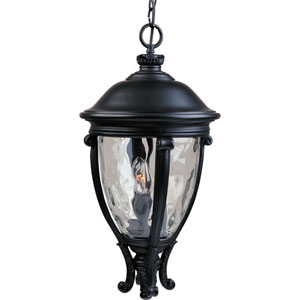Camden Black Three-Light Outdoor Pendant with Water Glass