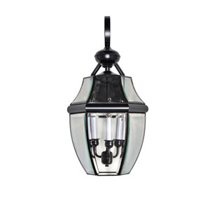 South Park Burnished 12-Inch Wide Three-Light Outdoor Wall Mount