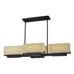 Esquire Dark Bronze LED Eight-Light Linear Pendant