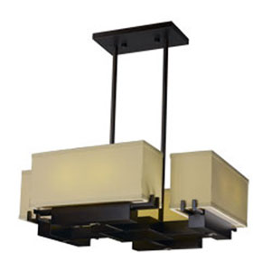 Esquire Dark Bronze LED Eight-Light Chandelier