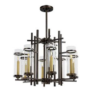 Midtown Gold Bronze LED Eight-Light Chandelier