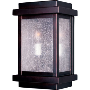 Cubes Burnished Amber Outdoor Wall Mount