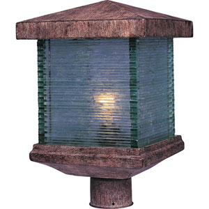 Triumph Earth Tone One-Light Outdoor Post Light with Clear Glass
