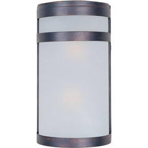 Arc Oil Rubbed Bronze Two-Light Outdoor Wall Lantern