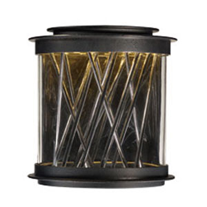 Bedazzle Texture Ebony LED Two-Light 11-Inch Outdoor Wall Mount