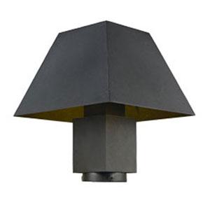 Pavilion Black LED One-Light Outdoor Post Mount