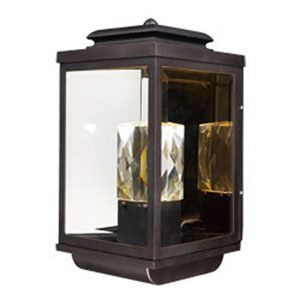Mandeville Galaxy Bronze LED Two-Light Outdoor Wall Mount