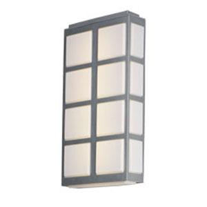 Packs Metallic Silver LED Six-Light Outdoor Wall Mount