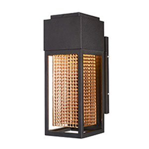 Townhouse Galaxy Bronze LED One-Light Five-Inch Outdoor Wall Mount