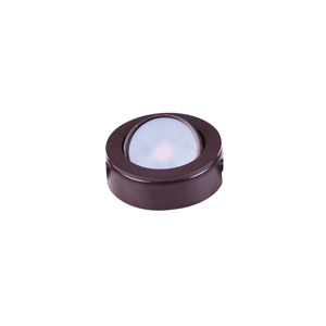CounterMax MX-LD-AC Anodized Bronze Three-Inch LED Under Cabinet Puck Light