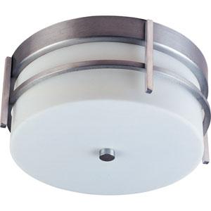 Luna LED Brushed Metal Two-Light Outdoor Flushmount