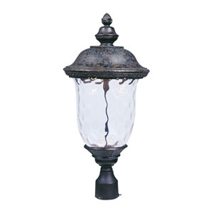 Carriage House LED Oriental Bronze One-Light Outdoor Post